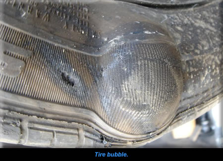 Tire bubble.